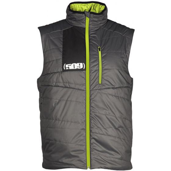 509large hi-vis gray insulation loft syn vest  jackets - casual