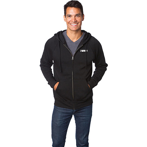 509medium black zip backcountry  hoodies - casual
