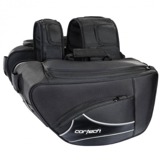 cortech contoured 2.0 super luggages saddlebags - motorcycle