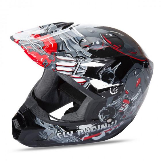 fly racing mx invazion kinetic helmet - dirt bike