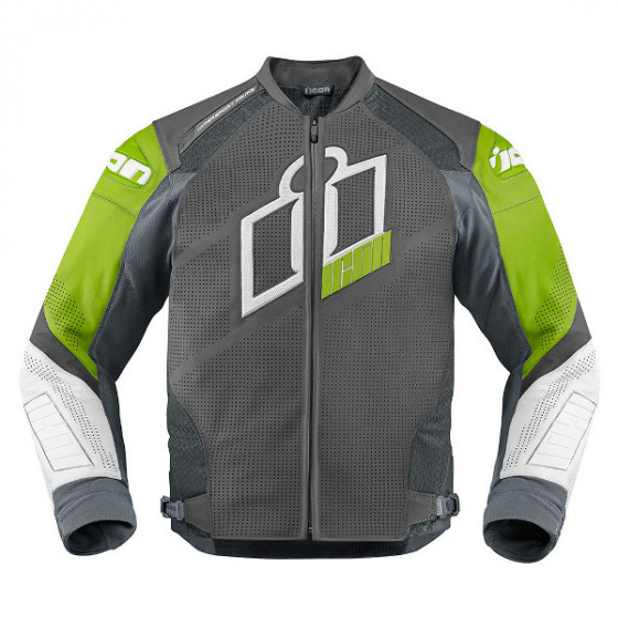 icon perforated prime hypersport jacket leather - motorcycle