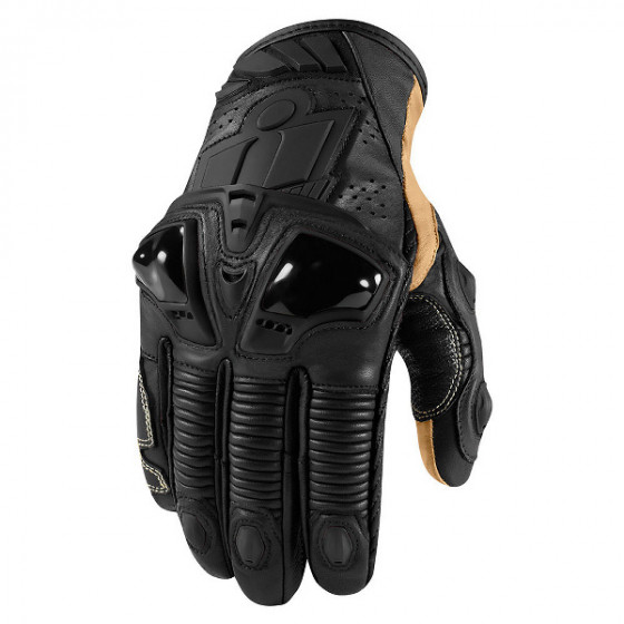 icon short hypersport gloves leather - motorcycle