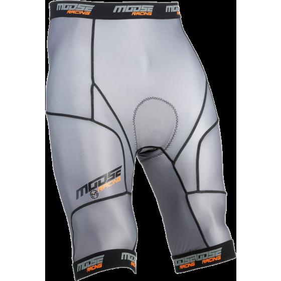 moose racing grey short base xc1  layers base bottoms - dirt bike