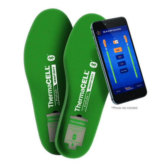 thermacell duty heavy proflex insoles heated boots - heated gear