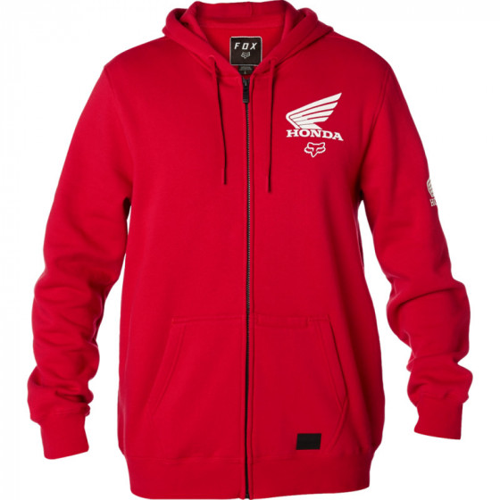 fox racing fleece zip honda - casual