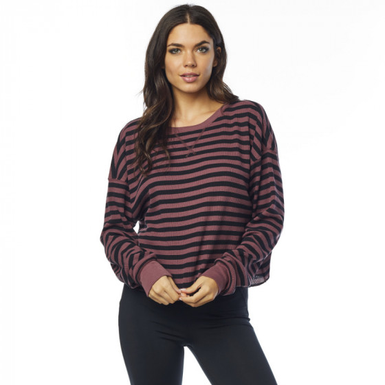 fox racing crop thermal out striped  long sleeve - casual