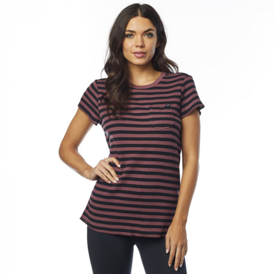 fox racing crew out striped   - casual