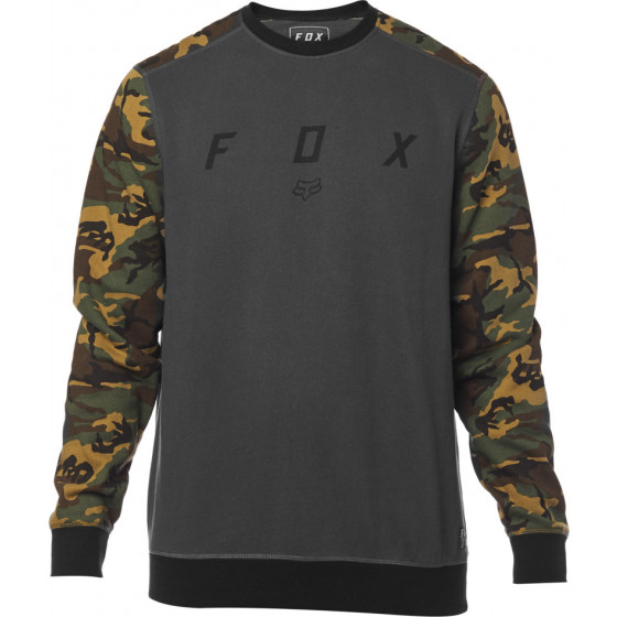 fox racing fleece crew destrakt  long sleeve - casual