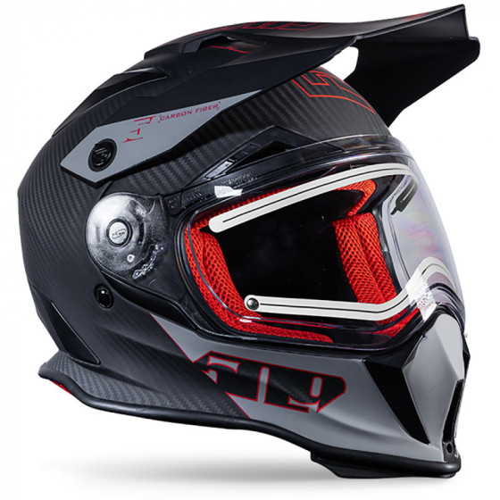 509 ignite fiber carbon r3 delta adult helmets electric shield - snowmobile