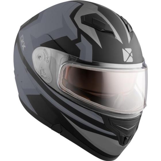 ckx fighter flex adult helmet dual shield - snowmobile