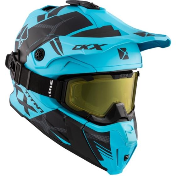 ckx fiberglass climb titan adult helmet full face - snowmobile
