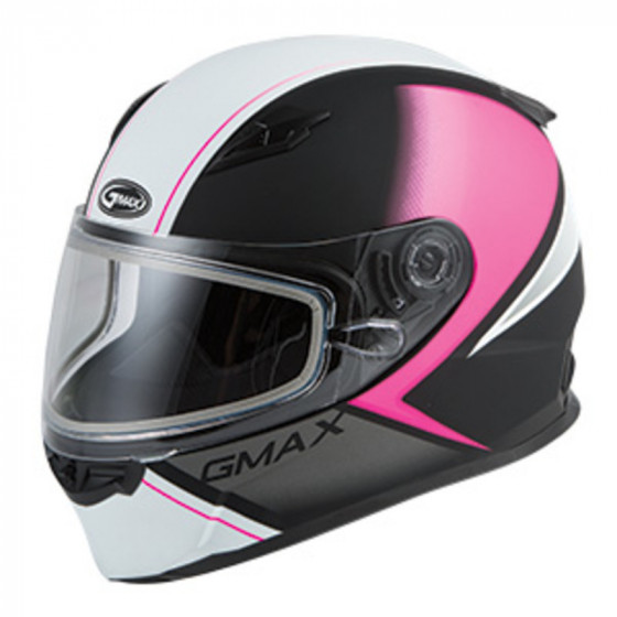gmax (dual) ff49 adult helmet dual shield - snowmobile