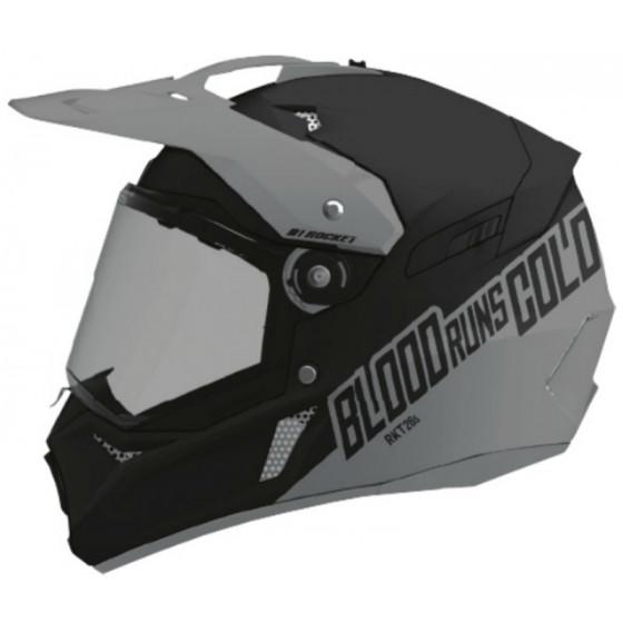 joe rocket (dual) cold runs blood sport dual 26 rkt adult helmet dual shield - snowmobile
