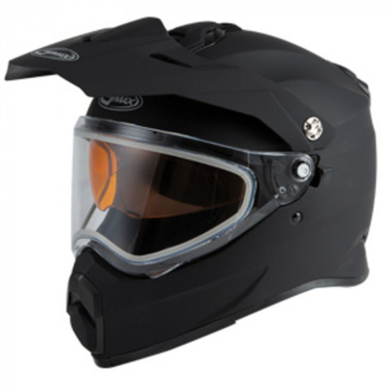 gmax solid touring adventure at-21  helmet dual shield - snowmobile
