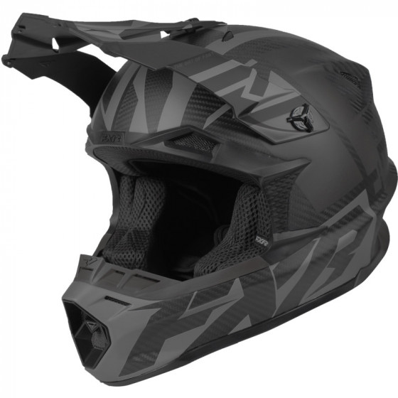 fxr racing division race carbon 2.0 blade adult helmets full face - snowmobile