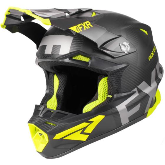 fxr racing evo carbon 2.0 blade adult helmets full face - snowmobile