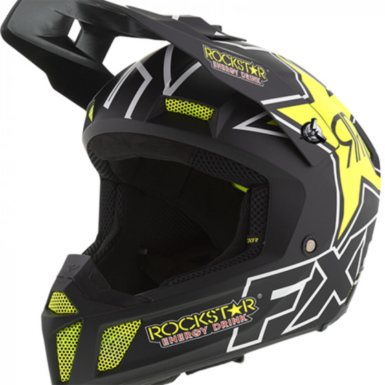 fxr racing rockstar cx clutch adult helmets full face - snowmobile
