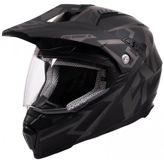 fxr racing shield) (dual iant x octane adult helmets dual shield - snowmobile