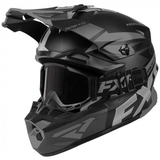 fxr racing goggles) (with qrs stop cold blade adult helmets full face - snowmobile