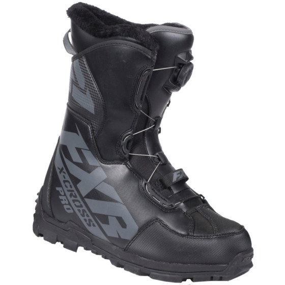 fxr racing boa pro x-cross adult boots boa boots - snowmobile