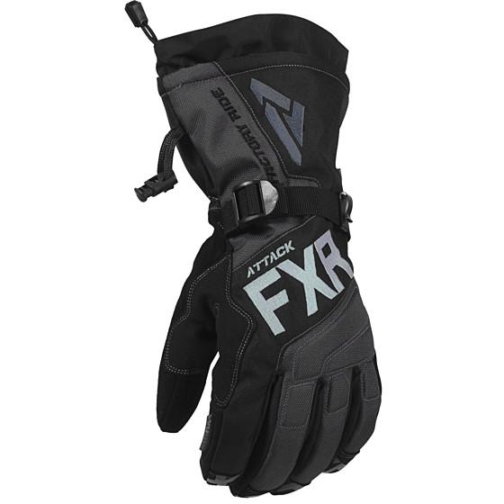 fxr racing gauntlet lite attack  gloves lites - snowmobile