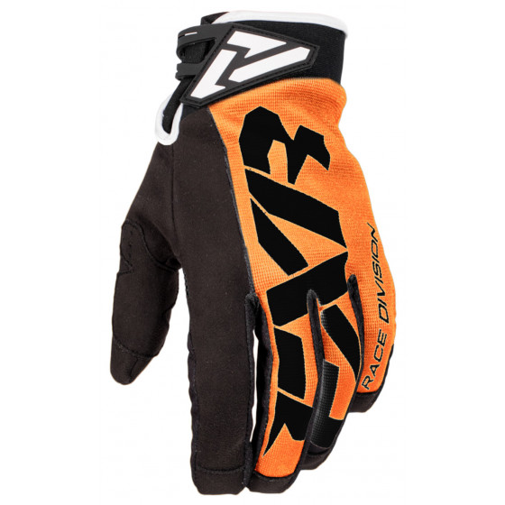 fxr racing adjustable race cross cold adult gloves lites - snowmobile