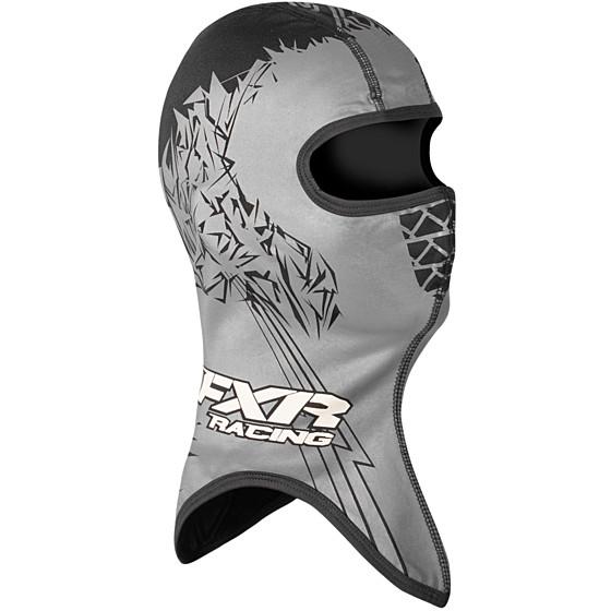 fxr racing block frostbite shredder adult headwear balaclava - snowmobile