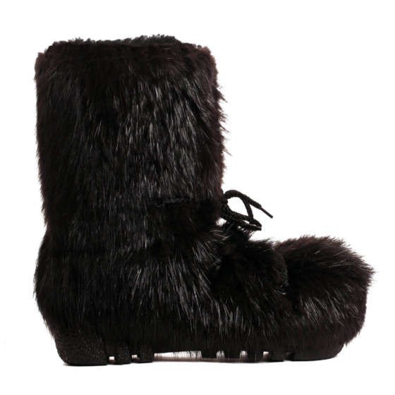 fur beaver blizzard adult boots lace boots - snowmobile