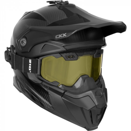ckx solid carbon titan adult helmet full face - snowmobile